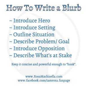 How to Write a Blurb - Cheat Sheet